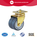 Swivel Plate Twin Wheel TPR Caster